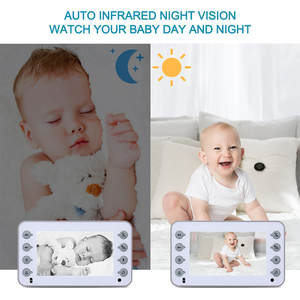 Wireless Baby Monitor Temperature Monitor Baby Care Security 3.4 inch LCD Screen Camera Video 2 Way Talk Night Vision