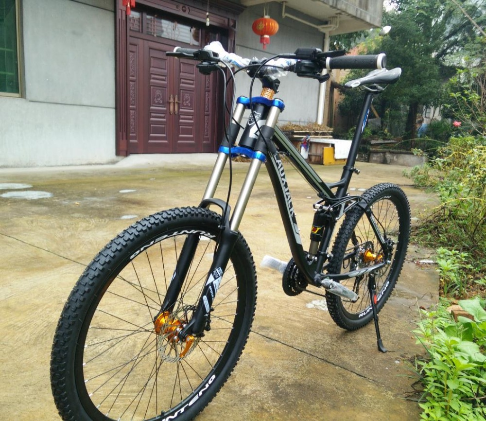 hydraulic brakes new cycling full suspension mountain bike. Black Bedroom Furniture Sets. Home Design Ideas