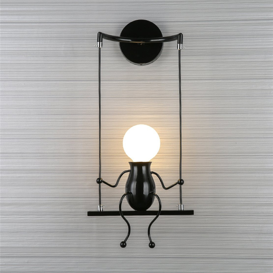 SXZM 5W Creative led wall light fixture Modern indoor decoration White or Warm White light Beside wall lamp AC85-265V