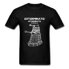 Exercise Doctor Who Tee Tops Clothing Exterminate Men's Short Sleeve Tee Shirts Natural Cotton Mens Mens Navy Shirt