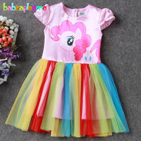 3 10Years Summer Style Baby Girls Dresses Kids Clothes Cartoon Cute Princess Costume Infant Party Dress