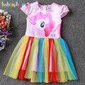3-10Years/Baby Girls Vestidos Niños Ropa de Verano de Dibujos Animados Caballo Lindo de La Princesa Infant Costume Party Dress Niños Ropa BC1350