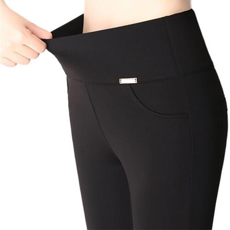 New 2018 Plus Size Women's Pencil Pants Trousers Female Stretch High Waist Cotton Casual Pants Skinny Office Pants Leggings 6XL