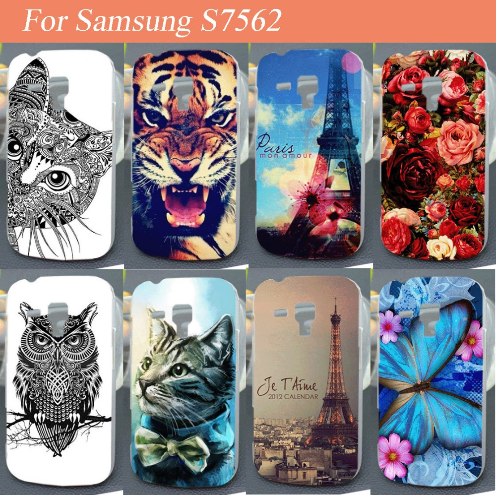 Luxury 3D Printing Beautiful Rose Flower Butterfly Case For Samsung Galaxy S Duos S7562 GT-S7562 7562 High Quality Phone Cover