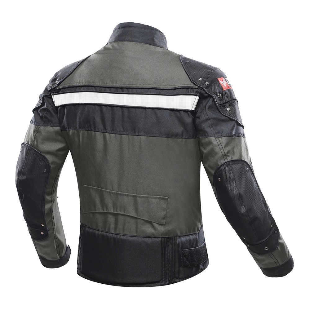 DUHAN мотоциклетная куртка для мотокросса мото Мужская ветрозащитная холодная одежда мотоциклетная Защитная Экипировка для зимы и осени
