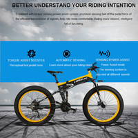 26inch Snow Electric Bicycle 48v Li Ion Battery Electric Mountain Bike Fold Frame 4 0 Fat