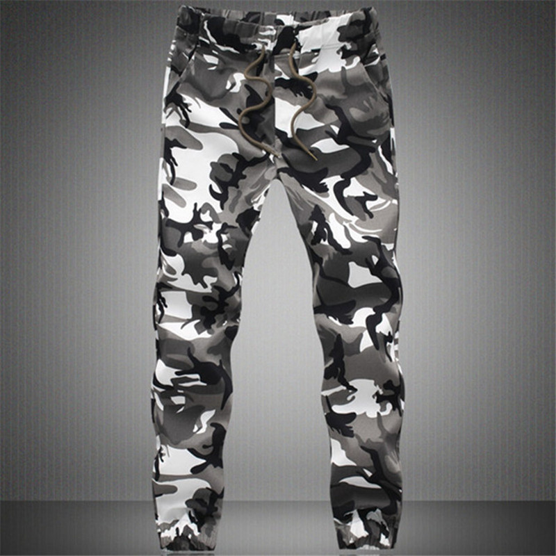 2019 New Joggers Men Hot Sale Casual Camouflage Pants Men Quality 100% Cotton Elastic Comfortable Trousers Men Plus Size M-3XL(China)