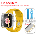 42mm S/M 42mm M/L Sport Silicone Watchband 21 Colors Silicone Strap with Case as Gift for Apple Watch 42mm AW2SSPC