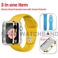 42mm s/m 42mm m/l esporte silicone pulseira 21 cores pulseira de silicone com caso como presente para apple watch 42mm aw2sspc