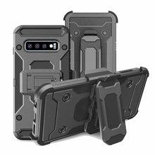 UYFRATE עמיד הלם חגורת קליפ נרתיק מלא מגן שריון מקרה S10 בתוספת S10e הערה 10 בתוספת Note9 S9Plus s8 S7
