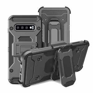 Image 1 - Uyfrate Shockproof Riemclip Holster Volledige Beschermende Armor Case Voor Samsung Galaxy S10 Plus S10e Note 10 Plus Note9 S9Plus s8 S7