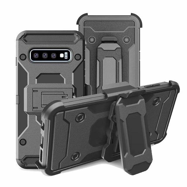 Uyfrate Shockproof Riemclip Holster Volledige Beschermende Armor Case Voor Samsung Galaxy S10 Plus S10e Note 10 Plus Note9 S9Plus s8 S7