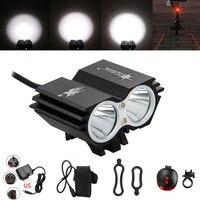 7000 루멘 자전거 빛 배 XM-L U2 LED 자전거 라이트 헤드 라이트 헤드 전면 조명 플래시 라이트 + 안전 후면