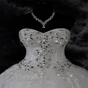 Image 3 - Qq lover 2020 novo vestido de baile rendas vestidos de casamento brilhante beading vestidos de casamento vestido de noiva