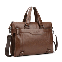 New Promotion Simple Dot Famous Brand Business Men Briefcase Bag Luxury Leather Laptop Bag Men S