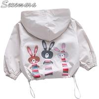 SexeMara Korean children's cartoon rabbit coat Girls baby jacket spring and autumn coat