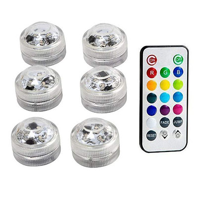 Подводные светодиодные лампы водонепроницаемый SMD3528 RGB подводный ночник Свадебный Чай Ваза-лампа чаша вечерние новогодние гирлянды - Испускаемый цвет: 6 Lamp 1 controller