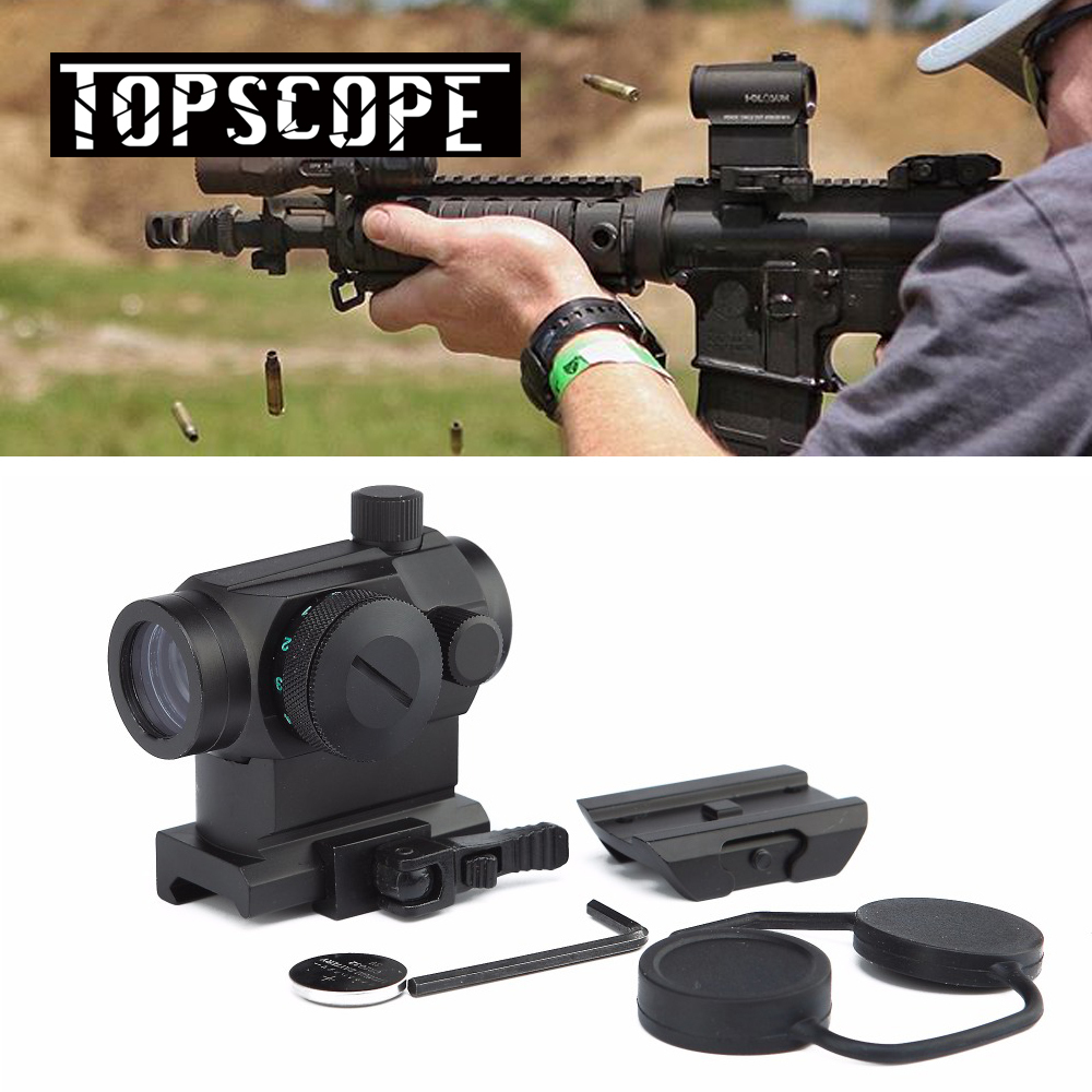 New Tactical Mini Micro 1X24 Reflex Red&Green Dot Scope Sight with QD Quick Riser Mount Quick Detach Red Dot sight target solar power t1 t 1 red dot with riser mount and low mount tan ipsc hs403c hs503c