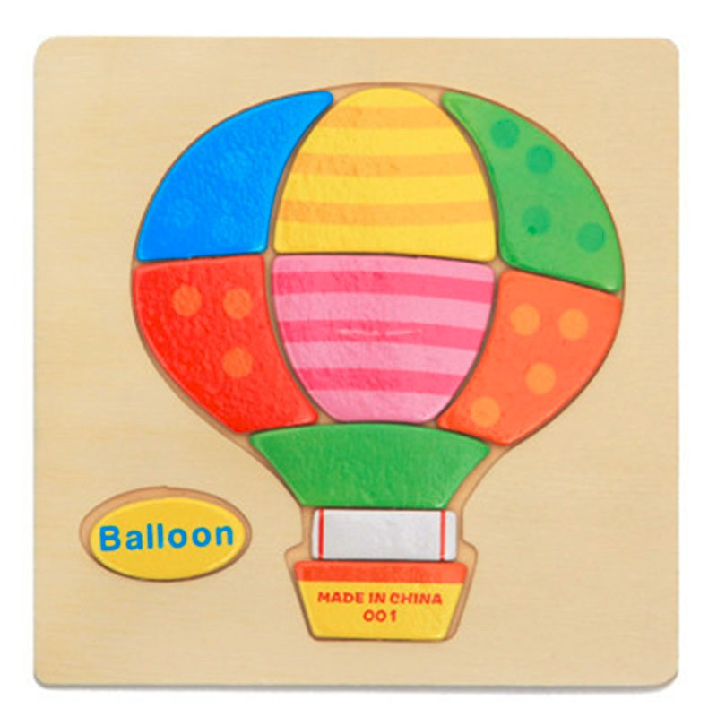 Лидер продаж вертолет шар самолет ракета деревянные пазлы игрушки деревянные игрушки Монтессори подарок
