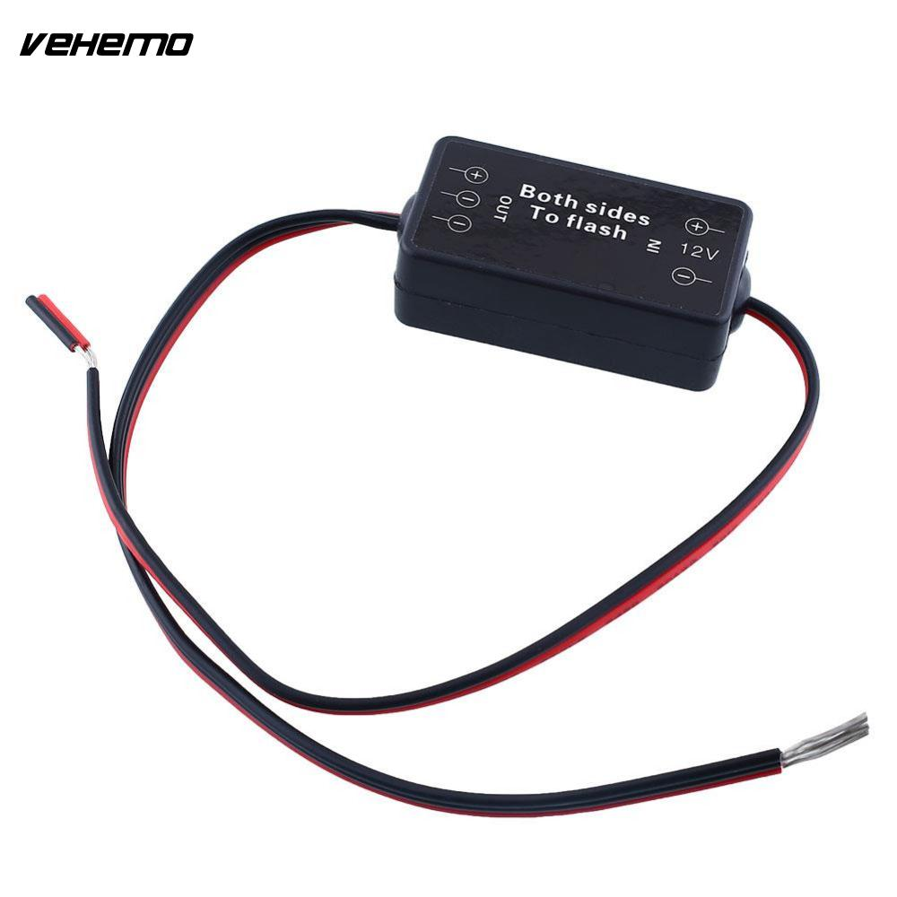 Vehemo Vehemo 12V 9 Car Alternating Strobe Flash Module Box For Fog Lights Bulb LED Strips