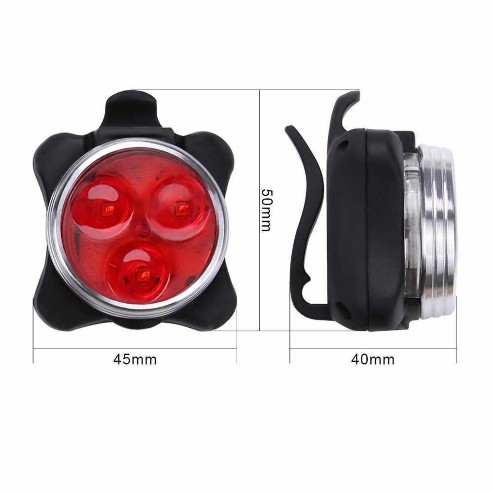 Горячая распродажа! велосипедная фара 3 светодиодный фонарь с usb-зарядным хвостовым зажимом, фонарь для велосипеда, оптовая продажа