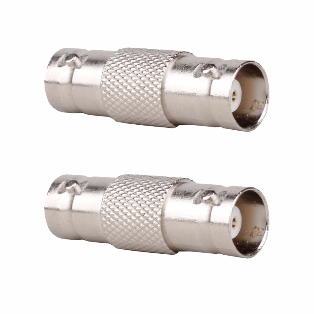 2 x Coaxial BNC F/F Female to Female Extension Coupler Connector Adapter for Video Surveillance CCTV Security Camera Cable Cord gzgmet spring ring for audio video cctv camera bnc female jack coupler wire connector