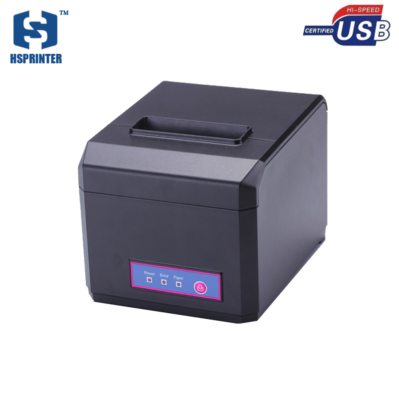 factory wholesale USB 58mm 80mm pos thermal receipt printer with linux driver for restaurant and supermarket printing low cost and high quality thermal printing cheap pos80 receipt printer support linux windows10 use for business hs 825uc