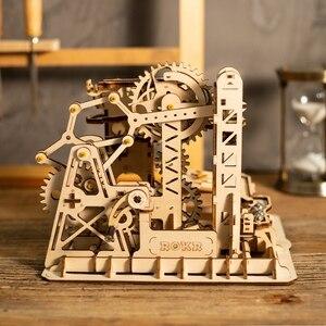 Image 5 - Robotime fai da te Cog sottobicchiere marmo corsa gioco kit di costruzione di modelli in legno giocattolo di assemblaggio regalo per bambini LG502