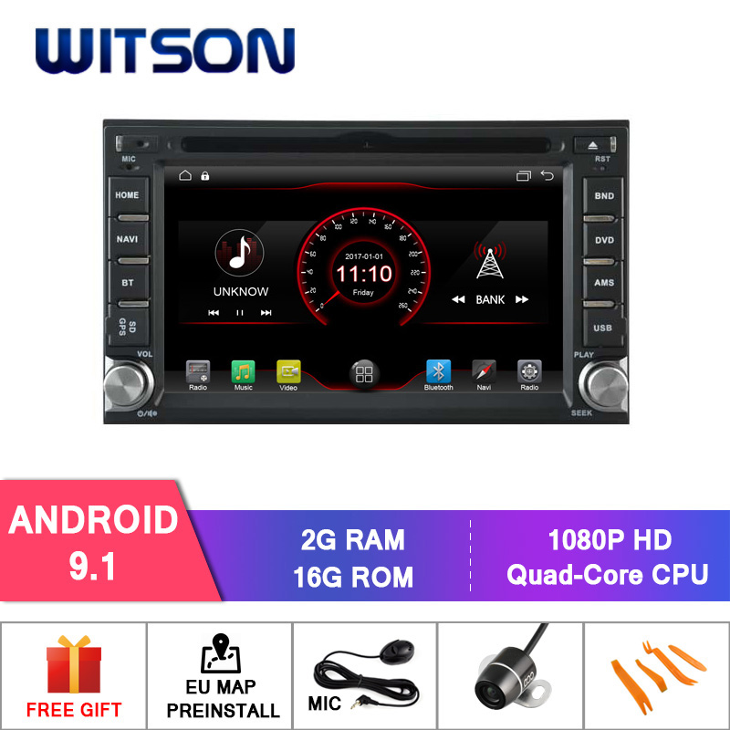 WITSON Android 9 1 car dvd player For NISSAN QASHQAI Tiida 2G RAM 16GB ROM mirror