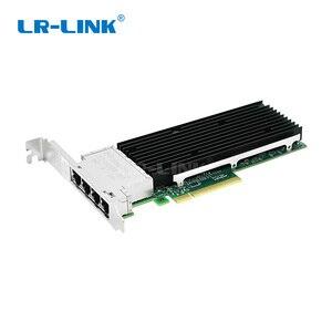Image 1 - LR LINK 9804BT 10Gb Nic karta sieciowa ethernet Quad port pci express karta lan adapter sieci Intel X710 T4 kompatybilny