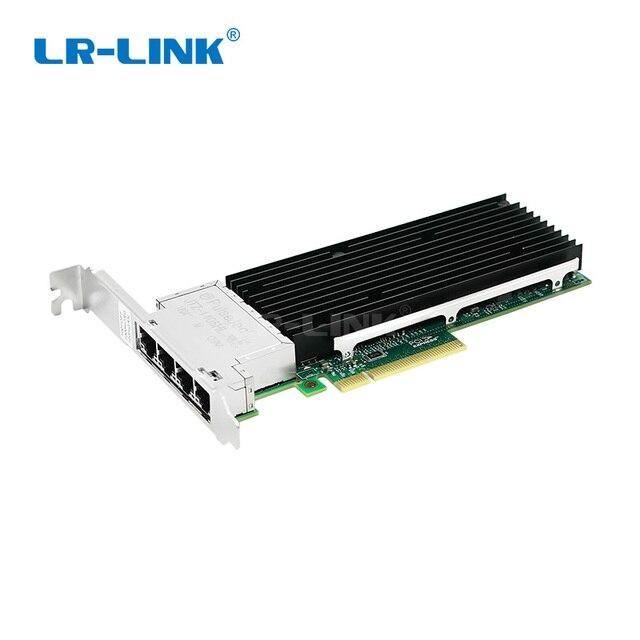 LR LINK 9804BT 10Gb Nic karta sieciowa ethernet Quad port pci express karta lan adapter sieci Intel X710 T4 kompatybilny