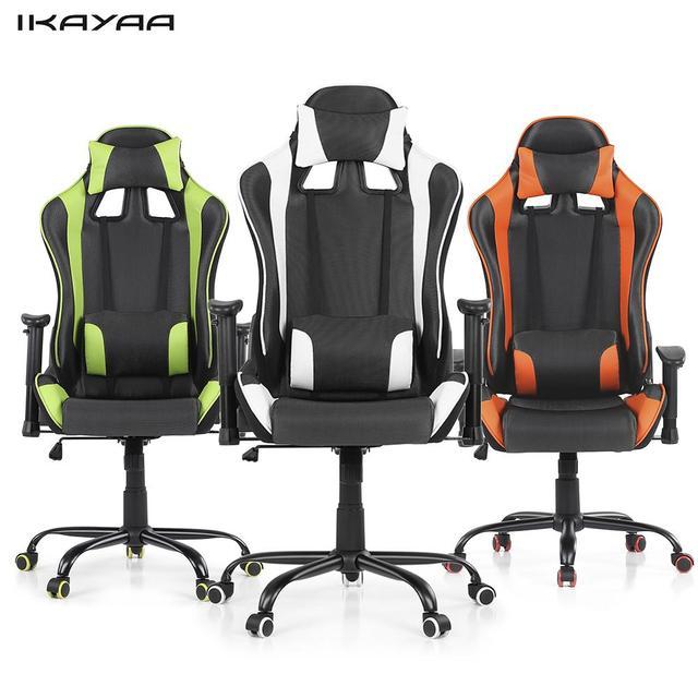 Ikayaa carreras ergonómico juego estilo silla giratoria de oficina ...