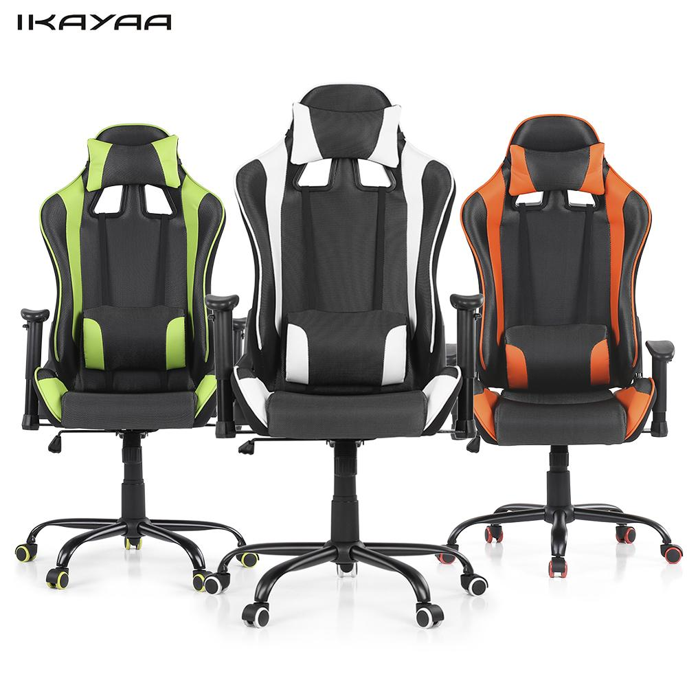 stylish office chairs ikayaa ergonomic racing style gaming office chair swivel 26925