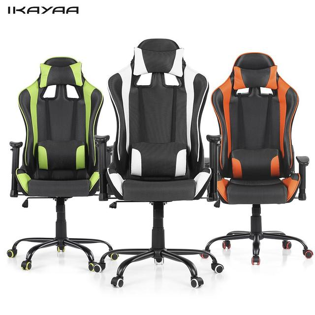 IKayaa Ergonomic Racing Style Gaming Office Chair Swivel Executive Computer Chair  Bucket Seat For Home US