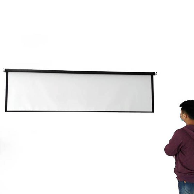 Thinyou 100 inčni 16: 9 bela tkanina prenosni talni zaslon talni - Domači avdio in video - Fotografija 5