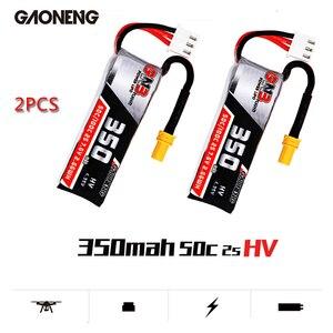 Image 1 - Gaoneng gnb 350 mah 2 s 7.6 v hv 4.35 v 50c/100c lipo bateria xt30 plug para beta75x rc zangão fpv corrida