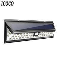 ICOCO 54 LEDs Solar Sensor Waterproof PIR Human Body Induction Motion Sensor Dimmable Wall Light For