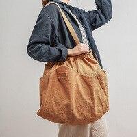 Cotton Fabric high Capacity Women Tote bag Ladies Casual Shoulder Bag Foldable Reusable Shopping summer Beach Bag handbag