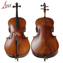 TONGLING Handcraft Matt Cello Full Size Natural Flamed Maple Grade AAA Spruce Violoncello Acoustic Musical Instrument
