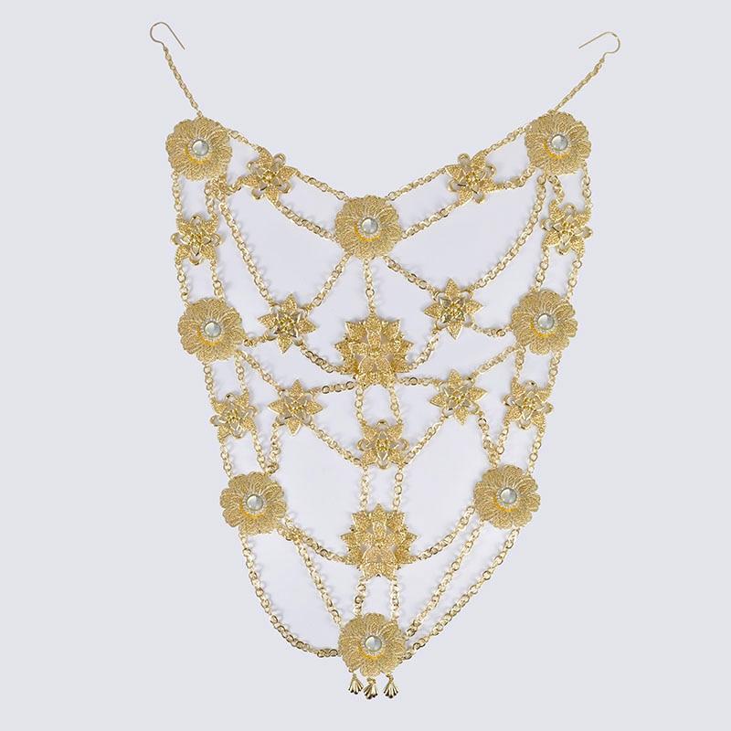 HTB15mhGOQzoK1RjSZFlq6yi4VXaH 6PCS Set Luxury Wedding Jewelry Set For Women Arabic Dubai Full Set Jewelry in Gold Big Size Costume Necklace Sets