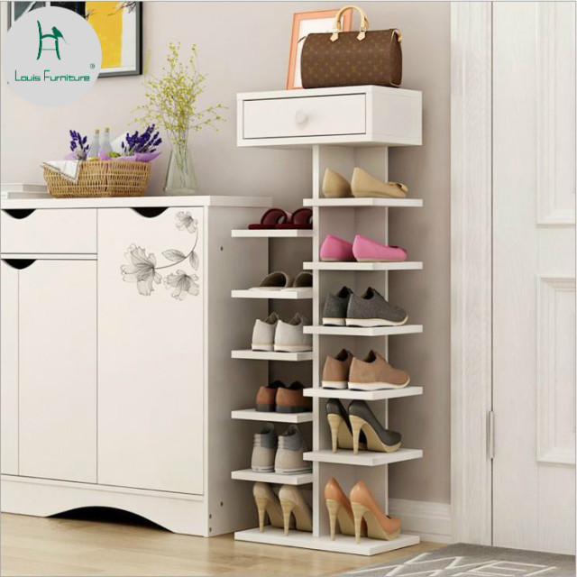 louis fashion vertical space multi wooden simple small cabinet net red shoe rack province moisture - Vertical Shoe Rack