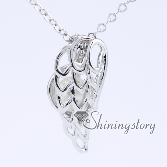 amazon necklace diffuser wing charm diffusing dp with extra silver long cage lockets com aromatherapy on locket plated