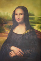 Dipinto A Mano di 100% World famous oil painting Mona Lisa Smile immagine Pittura Su Tela Foto Arte Della Parete Della Pittura per La Decorazione Domestica