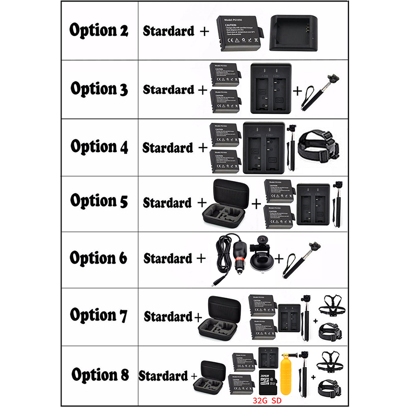 EKEN H9 H9R Ultra FHD 4 K 25FPS Wifi caméra d'action 30 M étanche 1080 p 60fps sous-marine aller À Distance extrême pro caméra de sport - 3