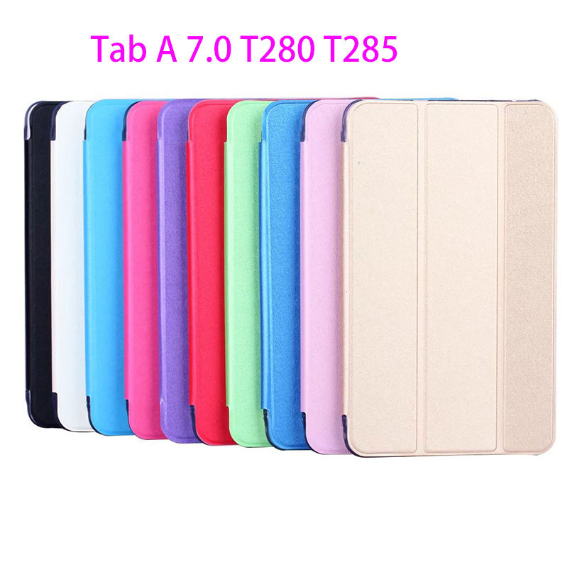 2016 New Folio PU Leather Case For Samsung Galaxy Tab A a6 7.0 inch T280 T285 SM-T280 Cover Case Funda Tablet Stand Shell Capa pu leather folio shell with hand strap for ipod touch 6 touch 5 nothing