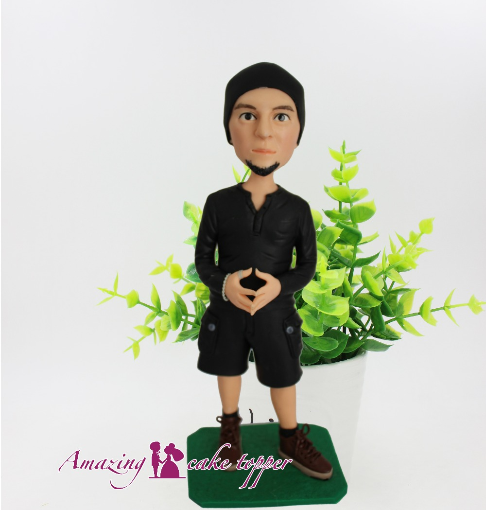 2019 AMAZING CAKE TOPPER Youth boy, my life, I am the master Toys Custom Polymer Clay Figure From Pictures 2019 AMAZING CAKE TOPPER Youth boy, my life, I am the master Toys Custom Polymer Clay Figure From Pictures