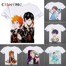 Coshome Haikyuu T-Shirts Hinata Shyouyou Kageyama Tobio Cosplay T shirts Costumes Men Women Short Sleeves Summer Tees Adult Tops(China)
