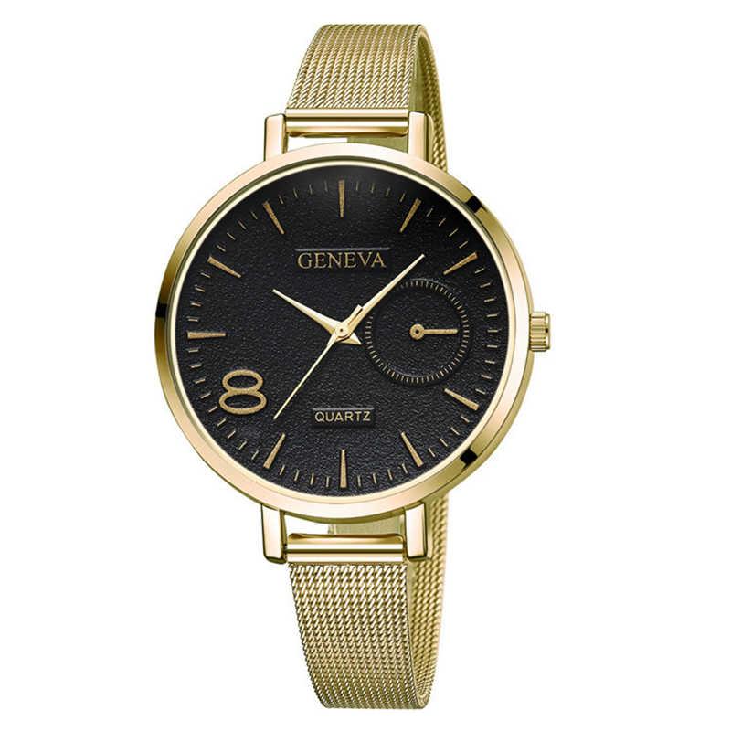 Известный Элитный бренд женские часы с сетчатым Сталь тонкий ремешок наручные часы для Для женщин девушки браслет из розового золота relogios кварцевый Femininos; большие размеры