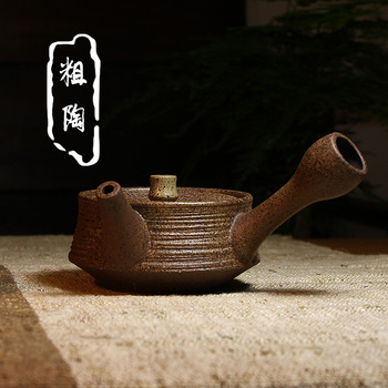 Mixed batch of Yixing Zisha teapot imitation Japanese coarse pottery hand cross 250cc gift teapot LOGO lettering