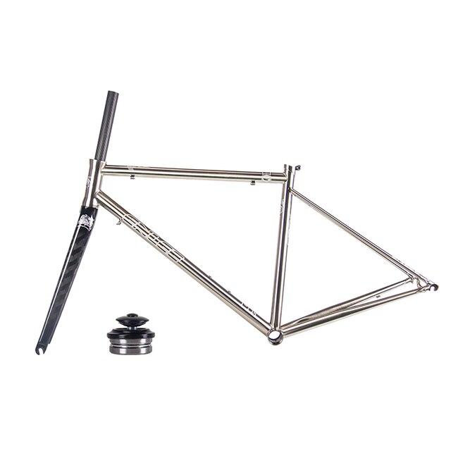 New ENLEE Ultralight 1550g Steel Road Bike Frame 4130 Steel Frame ...